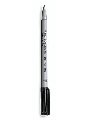 Staedtler Lumocolor Non-Permanent Overhead Projection Markers Black Fine 0.6 Mm Each [Pack Of 10] (10PK-316-9)