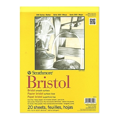 Strathmore 300 Series Bristol Smooth 9 In. X 12 In. [Pack Of 2] (2PK-342-9-1)