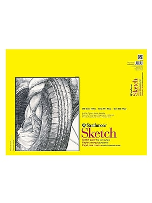Strathmore 300 Series Sketch Pads 18 In. X 24 In. Wire Bound 30 Sheets [Pack Of 2] (2PK-350-18-1)