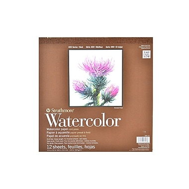 Strathmore 400 Series Watercolor Pad 12 In. X 12 In. Tape Bound Pad Of 12 [Pack Of 2] (2PK-298-112-1)