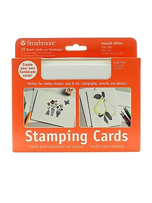 Strathmore Blank Greeting Cards With Envelopes Smooth White With No Deckle Pack Of 10 [Pack Of 2] (2PK-105-190-1)