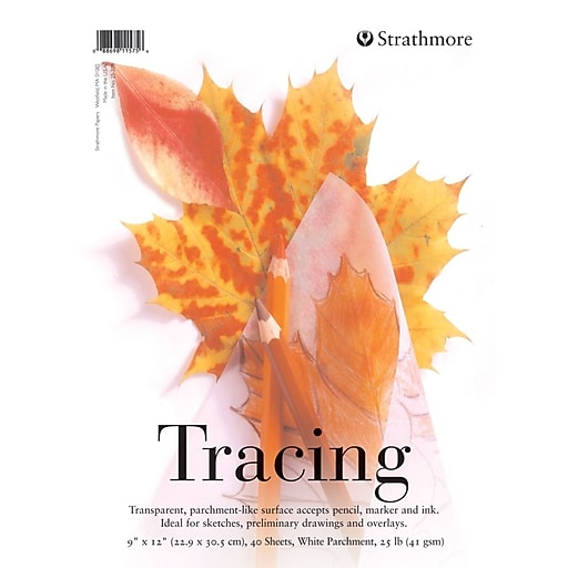 Strathmore Series 200 Tracing Paper Pad 9 In. X 12 In. Pad [Pack Of 4] (4PK-25-209-1)