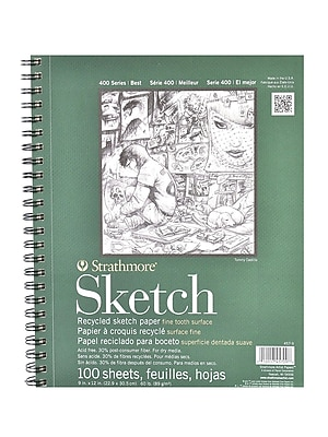 Strathmore Series 400 Premium Recycled Sketch Pads 9 In. X 12 In. 100 Sheets [Pack Of 2] (2PK-457-9-1)