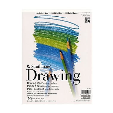 Strathmore Student Art Drawing Paper Pad 9 In. X 12 In. Pad [Pack Of 6] (6PK-25-009-1)