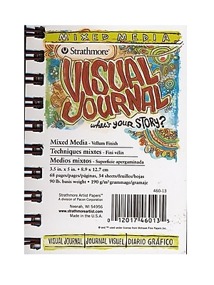 Strathmore Visual Mixed Media Journals 3 1/2 In. X 5 In. 34 Sheets [Pack Of 6] (6PK-460-13)