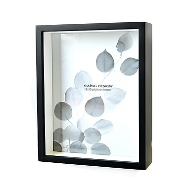 Swing Chroma Frames 8 In. X 10 In. Black White Inlay (1011-80)