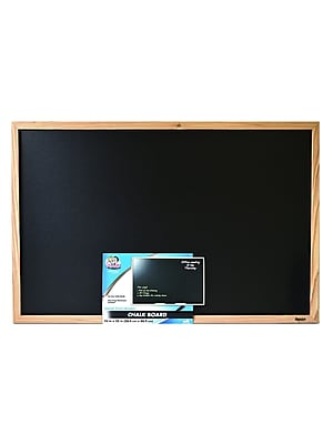 The Board Dudes Wood Style Framed Chalk Boards 23 In. X 35 In. (CXM79)