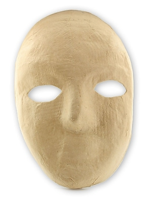 The Chenille Kraft Company Paper Mache Masks Full Mask 8 In. X 6 In. Each [Pack Of 6] (6PK-4190)