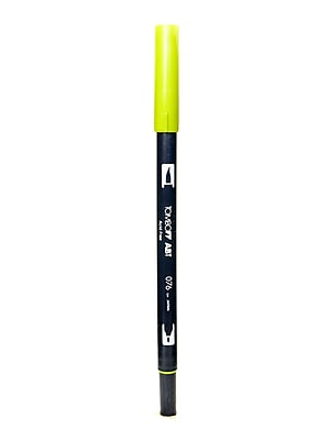Tombow Dual End Brush Pen Green Ochre [Pack Of 12] (12PK-56509)