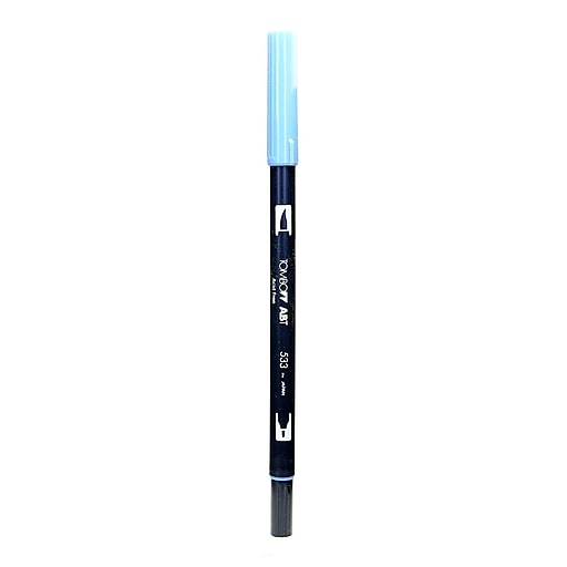 Tombow Dual End Brush Pen Peacock Blue [Pack Of 12] (12PK-56561)