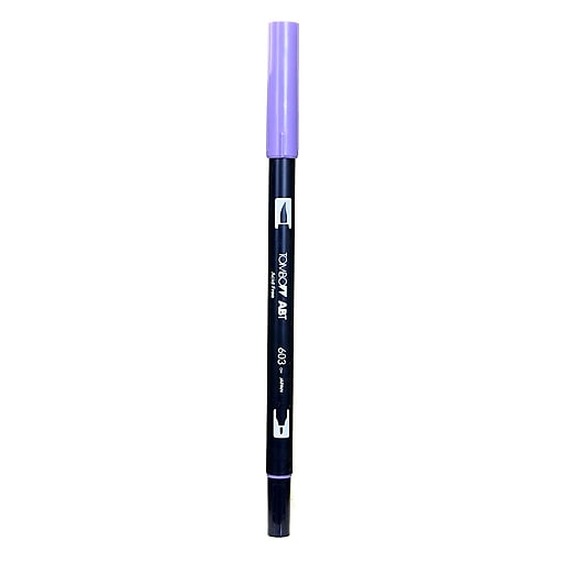Tombow Dual End Brush Pen Periwinkle [Pack Of 12] (12PK-56567)