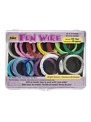 Toner Crafts Fun Wire Assortments Bright 22 And 24 Gauge (85153)