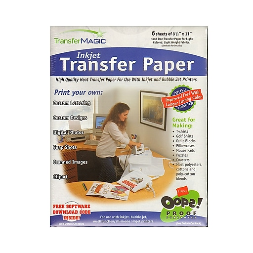 d3288daca Transfer Magic Transfer Paper Pack Of 6 For Ink Jet Or Bubble Jet Printers  [Pack Of 2] (2PK-FXPI-6) | Staples