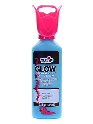 Tulip Glow In The Dark Dimensional Fabric Paint Blue 1 1/4 Oz. [Pack Of 6] (6PK-29014)