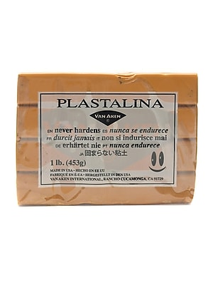 Van Aken Plastalina Modeling Clay Golden Ochre 1 Lb. Bar [Pack Of 4] (4PK-10120)