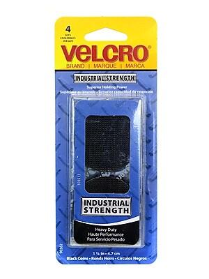 Velcro Industrial Strength Fastener 1 7/8 In. Black Coin Shape Set Of 4 [Pack Of 6] (6PK-90362)