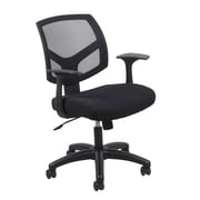 Essentials by OFM ESS-3030 Mesh Task Chair Fixed Arms, Black
