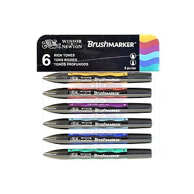 Winsor And Newton Brushmarker Sets Rich Tones Set Of 6 (0290034)