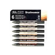 Winsor  And  Newton Brushmarker Sets Skin Tones Set Of 6 (0290036)