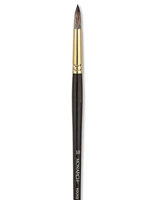 Winsor And Newton Monarch Brushes 10 Round Long Handle (5503010)