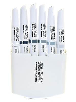 Winsor And Newton Pigment Marker Sets Cool Greys Set Of 6 (0290042)
