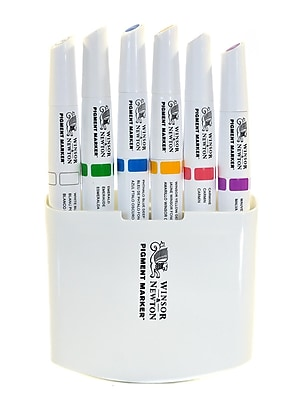 Winsor And Newton Pigment Marker Sets Rich Colors Set Of 6 (0290043)