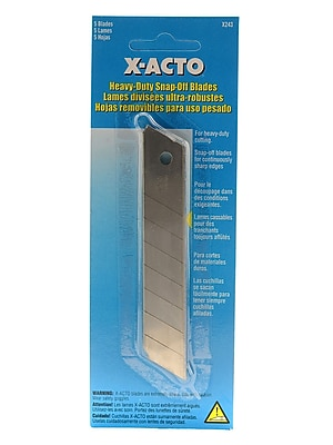 X-Acto Light Duty Snap-Off Blade Utility Knife Refill Blades Pack Of 5 [Pack Of 6] (6PK-X243)
