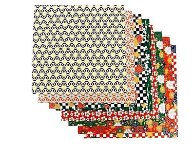 Yasutomo Fold'Ems Origami Paper 8 Washi Folk Patterns 5 7/8 In. Pack Of 16 [Pack Of 6] (6PK-4304)