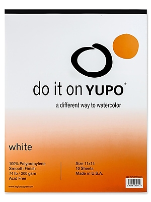 Yupo Watercolor Pad 11 In. X 14 In. (L21-YUP197WH1114)