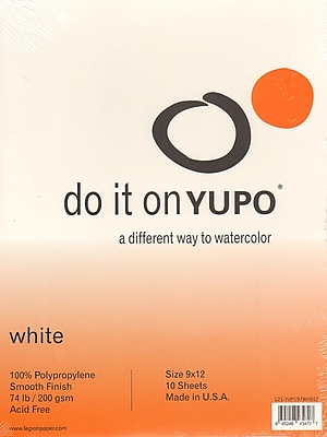 Yupo Watercolor Pad 9 In. X 12 In. [Pack Of 2] (2PK-L21-YUP197WH912)