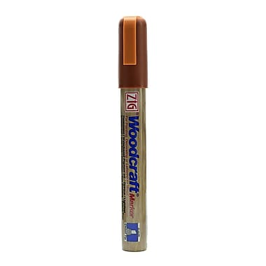 Zig Woodcraft Markers Burnt Sienna Chisel [Pack Of 6] (6PK-PWC-50-621)