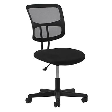 OFM - Chaise d'ordinateur et de bureau en tissu de la gamme Essentials, sans accoudoirs, noir (89191013518)