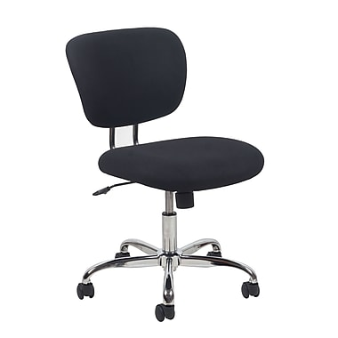 OFM Essentials Fabric Computer and Desk Office Chair, Armless, Black (89191013280)