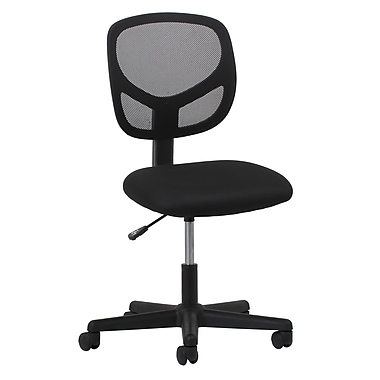 OFM Essentials Fabric Computer and Desk Office Chair, Armless, Black (89191013310)