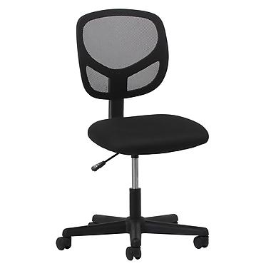 OFM – Chaise d'ordinateur et de bureau en tissu de la gamme Essentials, sans accoudoirs, noir (89191013310)