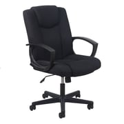 OFM Essentials Fabric Computer and Desk Office Chair, Fixed Arms, Black (089191013228)