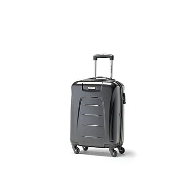 Samsonite Winfield 3 Fashion Spinner Carry-on Widebody, Charcoal, (75390-1174)