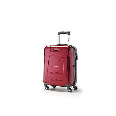 Samsonite Winfield 3 Spinner Carry-on Widebody, Dark Red, (73439-1267)
