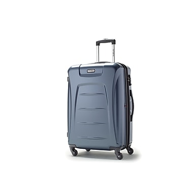 Samsonite – Grande valise à roulettes expansible Winfield 3, ardoise bleue (73441-1101)