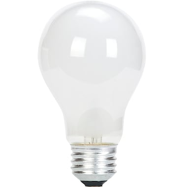 Globe Brand A19 50W Incandescent Light Bulb, Frosted Medium, 6/Pack