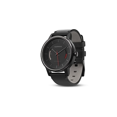 Garmin vivomove™ Classic Activity Tracker with Leather Band, Black (010-01597-12)