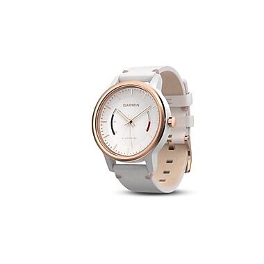 Garmin – Capteur d'activité vivomove™ Classic avec bracelet en cuir, ton or rose, (010-01597-13)