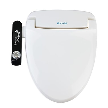 Brondell S100-EW Swash Ecoseat 100 Bidet Toilet Seat-Elongated, White