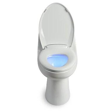 Brondell – Siège de toilette chauffant L60-RW LumaWarm avec veilleuse, rond, blanc