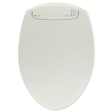 Brondell L60-EB LumaWarm Heated Nightlight Toilet Seat Elongated, Biscuit