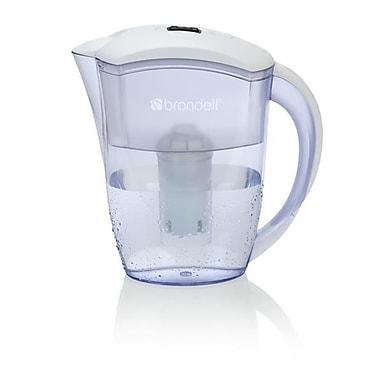 Brondell – Pichet de filtration d'eau H2O+, H10-W, 6 tasses, blanc/transparent
