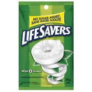 LifeSavers Wint-O-Green Mints, 70g Bag, No Sugar Added