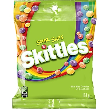 Skittles Sours Peg Candy, 151g