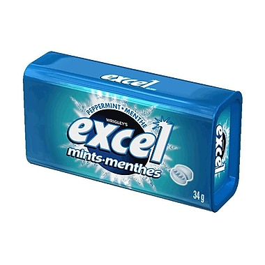 Excel Mints, Peppermint, 34g