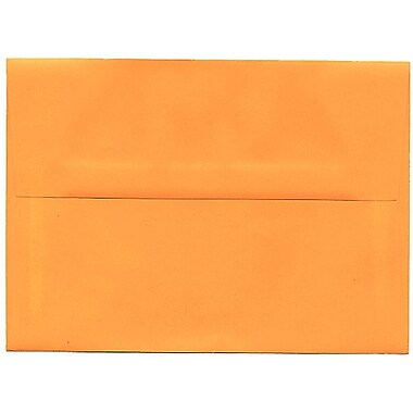 JAM Paper® A7 Paper Envelope, Brite Hue Ultra Orange, 50/Pack